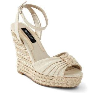 NWOB White House Black Market Wedge Sandals